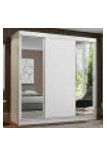 Guarda-Roupa Casal Madesa Reno 3 Portas De Correr Com Espelhos - Branco