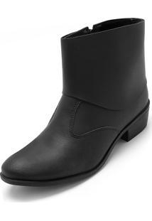 Bota Dafiti Shoes Recortes Preta