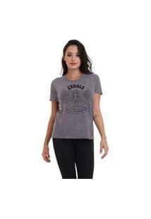 Camiseta Jay Jay Basica Exhale Chumbo Dtg