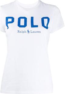 Polo Ralph Lauren Camiseta Slim Com Estampa De Logo - Branco