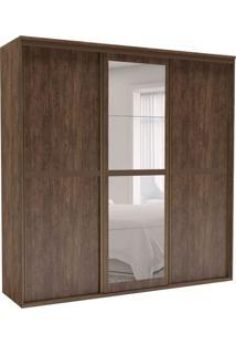 Guarda-Roupa Casal Sofisticato I Com Espelho 3 Pt 6 Gv Marrom