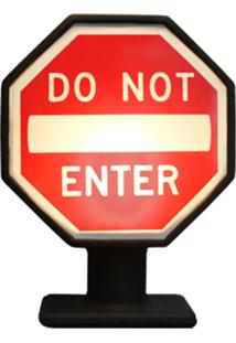 Luminária Casa Da Mãe Joana Placa Do Not Enter