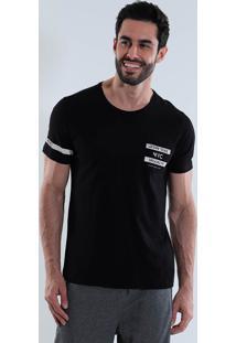 Camiseta Com Bolso Masculina Km