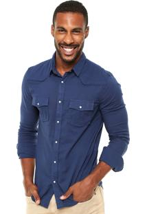 Camisa Osklen Bolsos Azul