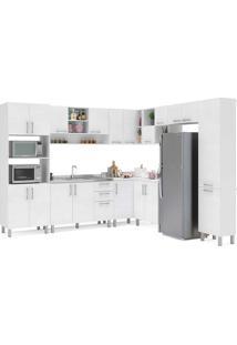 Cozinha Compacta Com 9 Peças Floripa 24-Politorno - Branco