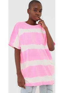 Camiseta Lança Perfume Tie Dye Neon Pink - Kanui