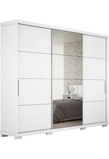 Guarda Roupa Casal Com Espelho Barcelona 3 Pt 6 Gv Branco