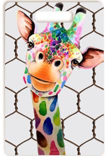 Tábua De Corte Vickttoria Vick Girafa Divertida Grande 26 X 40 Cm