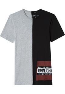 Camiseta John John Rg Half Content Malha Preto Masculina (Preto, Pp)