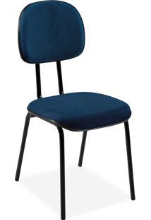 Cadeira Secretã¡Ria Injetada Base Fixa Tu Azul - Azul - Dafiti