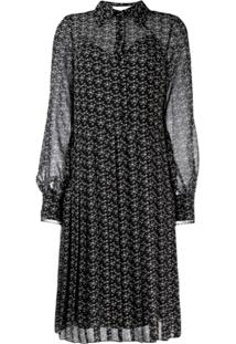 See By Chloé Printed Shirt Dress - Preto