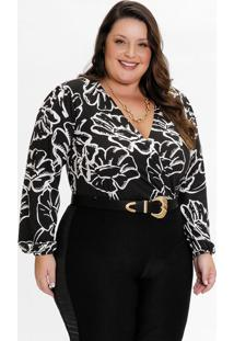 Body Plus Size Estampado Floral Unicor