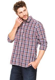 Camisa Wrangler Quadriculada Vermelha