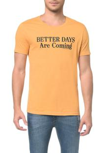 Camiseta Ckj Estampada Better Days - Mostarda - P