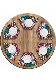 Jogo Americano Para Mesa Redonda Wevans Linhas Abstratas Kit Com 6 Pã§S Love Decor - Multicolorido - Dafiti