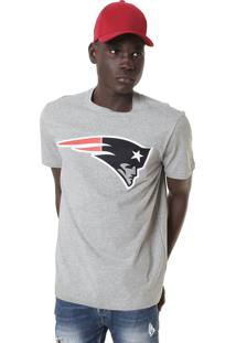 Camiseta New Era England Patriots Cinza