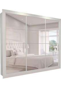 Guarda-Roupa Casal Com 3 Espelhos Helena 3 Pt 6 Gv Branco 277 Cm