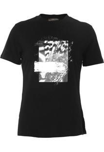 Camiseta Morena Rosa Estampada Preta - Kanui