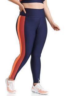 Calça Legging Plus Size Mood Cajubrasil Feminina - Feminino-Azul