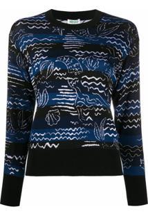 Kenzo Suéter Com Detalhe De Sereia - Preto