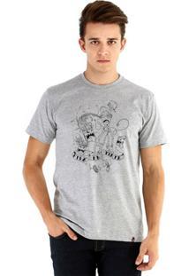 Camiseta Ouroboros Manga Curta Viva La Tinta - Masculino-Cinza
