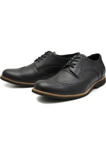 Sapato Oxford Shoes Gran Gigante - Masculino-Preto