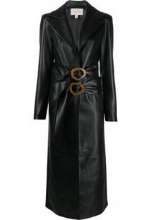 Matériel Trench Coat - Preto