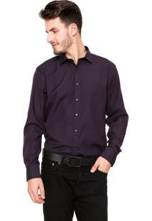 Camisa Vivacci Slim Fit Roxa