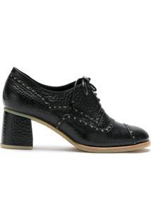 Sarah Chofakian Ankle Boot Apollo De Couro - Preto