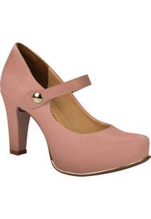 90687ace5d Scarpin Embutir Rosa feminino
