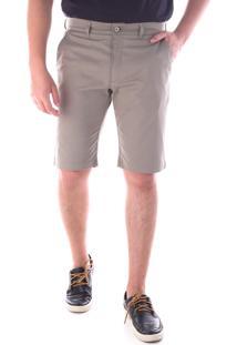 Bermuda 674 Sarja Kaki Traymon Modelagem Slim