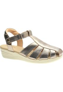 Sandalia Esporão Doctor Shoes 7803 Metalic