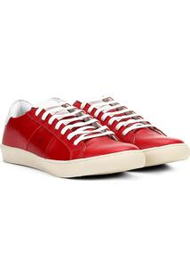 Tênis Couro Ellus Root Classic Masculino - Masculino-Vermelho