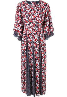 Gül Hürgel Vestido Com Estampa Floral - Vermelho