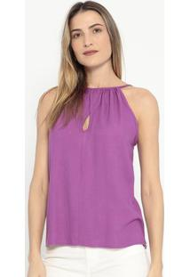 Blusa Texturizada Com Vazado- Roxa- Colccicolcci