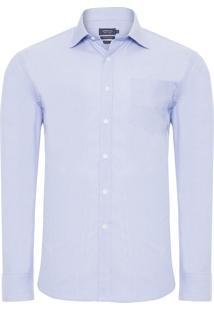 Camisa Social Masculina Comfort - Azul