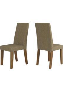 Cadeiras Kit 2 Cadeiras Nobre 14102 Seda/Neve - Viero Móveis