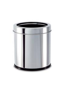 Lixeira Inox Com Aro 3,2 Litros - Decorline Lixeiras Ø 15,5 X 17 Cm - Brinox