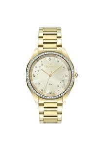 Relógio Technos Feminino Analógico Dourado 2036Mmg1X