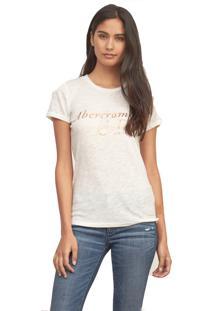 Camiseta Abercrombie Gráfica Bege