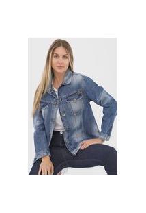 Jaqueta Jeans Colcci Botões Azul