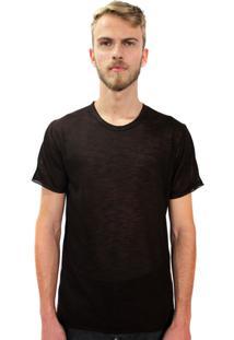 Camiseta Klauk Filete Marrom