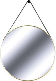 Espelho Redis Moldura Banhada Cor Dourado 60 Cm (Larg) - 43550 - Sun House
