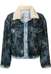 3bf61a435b ... Almaz Lace Overlay Denim Jacket - Azul