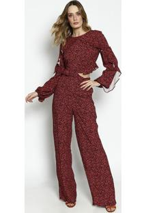 d60976fc0 Macacão Floral Marsala feminino | Gostei e agora?