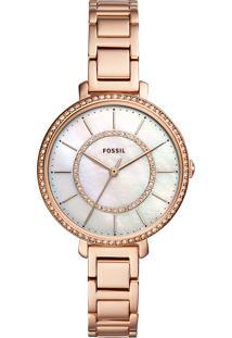 Relógio Analógico Feminino Fossil Jocelyn Es4452/1Jn Rosê