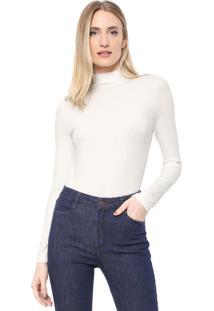 Blusa Dudalina Canelada Off-White