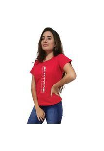 Camiseta Feminina Cellos Vertical Ii Premium Vermelho