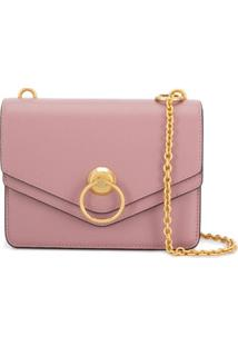 Mulberry Small Harlow Satchel Small Classic Grain - Rosa