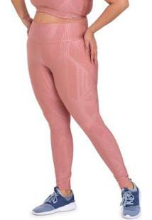 Calça Legging Plus Size Exclusive Cajubrasil Feminina - Feminino-Rosa